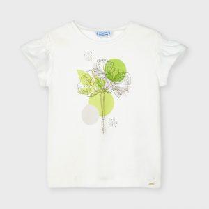 Maglietta manica corta fiore