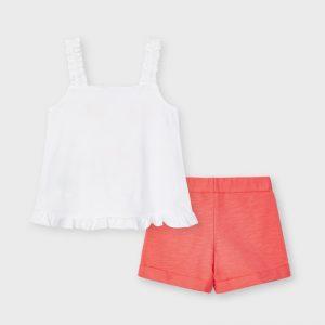 Completo shorts bambina