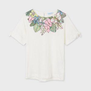 Maglietta manica corta foglie