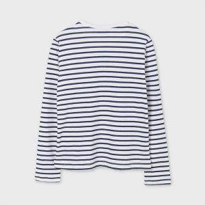 Maglietta manica lunga righe