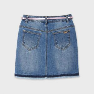 Gonna jeans con cintura