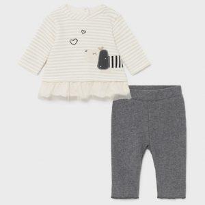 Completo leggings neonata