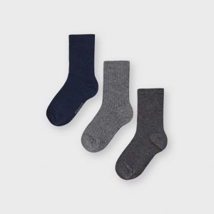 set 3 calzini marino