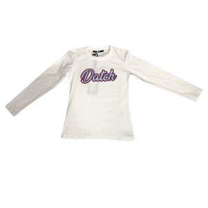 T-shirt bianca scritta datch