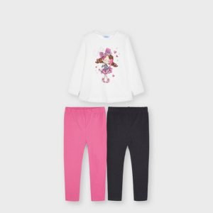 Completo leggings 2 pantaloni
